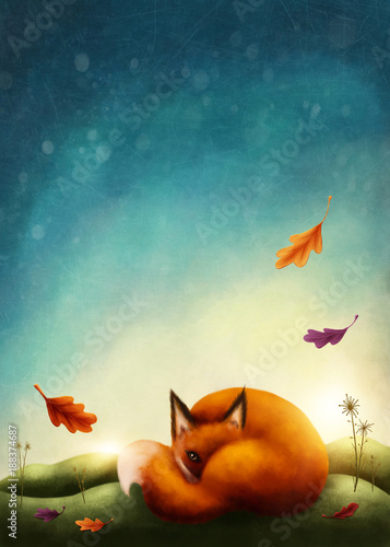 illustration-of-a-little-red-fox