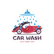 Car wash. Emblem.