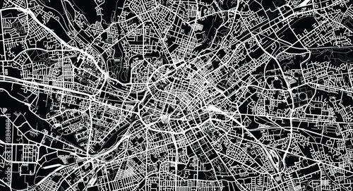 Fotografie, Obraz Urban vector city map of Manchester, England