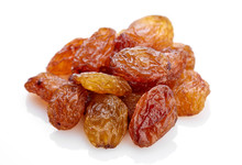 Raisins On A White Background. Dried Grapes.