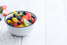 Fresh Organic Fruit Salad With...