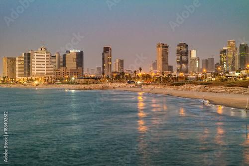 Foto op Aluminium Tokyo Tel Aviv. Night view from Jaffa.