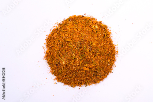 Fotomural A pile of a yellow spice mix for chicken