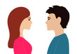 Man and woman opposite each other