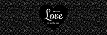 Valentine's Day - Design Of Banner With Sketch Hearts. Vector.