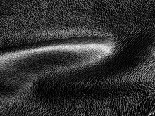 Curly Black Leather Fabric