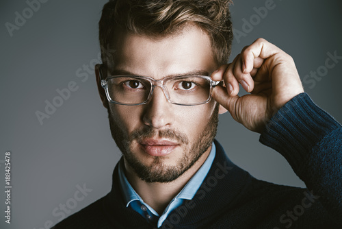 businessman in spectacles