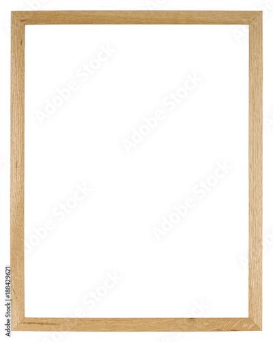 Fotografía  Empty picture frame of light oak wood