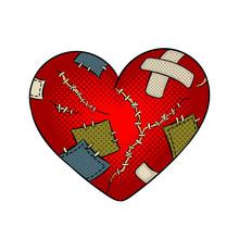 Broken Heart Metaphor Pop Art ...