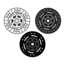 Car Clutch Plate On White Background