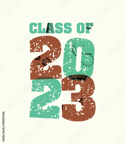 Fotografia  Class of 2023 Concept Stamped Word Art Illustration