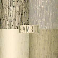 Old Bamboo Reed Fence As A Tex...