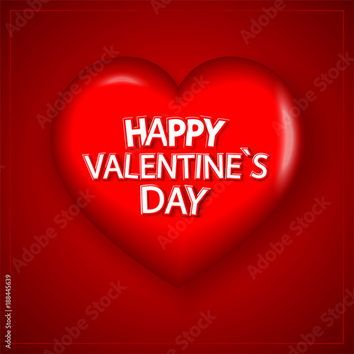 Eps 10 Vector Happy Valentine S Day Illustration 3d Red Heart