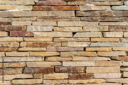 Photo  Sandstone brick wall texture background