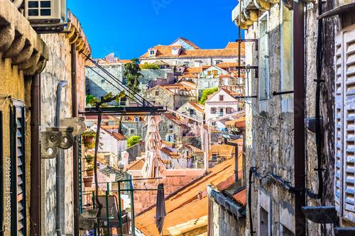 Dubrovnik famous street scenery Canvas