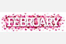 February Single Word With Hear...