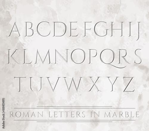 Fototapeta 3647 all roman letters