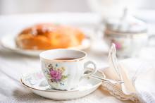 Luxury Porcelain Tea Set With A Cup, Teapot, Sugar Bowl