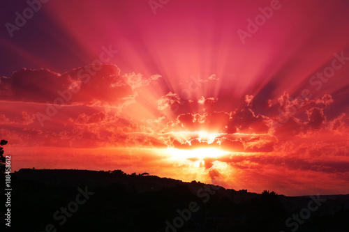 Poster Violet Red Sunset