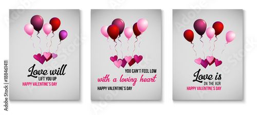 Valentines Day Greeting Cards Love Holiday Sale Banner Ads Vector