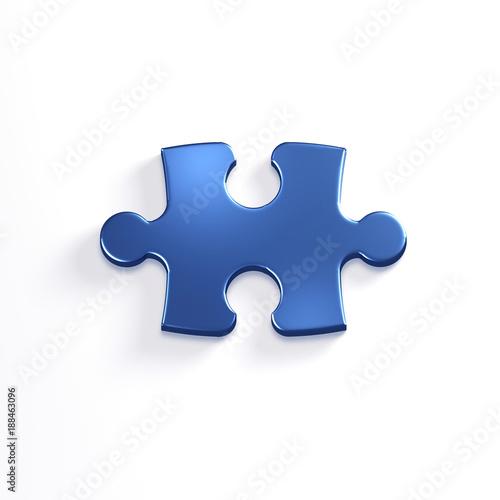 Fotografie, Obraz  Puzzle Piece of Jigsaw. 3D Render Illustration