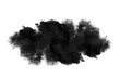 Leinwanddruck Bild - black cloud on white background