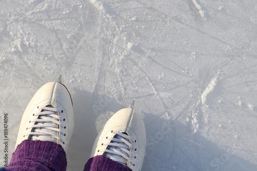Fotobehang Wintersporten Eiskunstlauf
