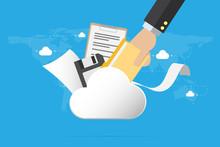 Business Hand Insert Document ...