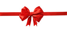 Red Silk Ribbon And A Big Bow