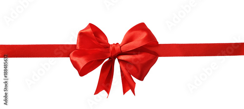 Red silk ribbon and a big bow Canvas