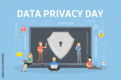 Tablou Canvas Data privacy day.