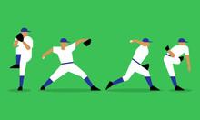 Baseball Pitcher Throws The Ba...