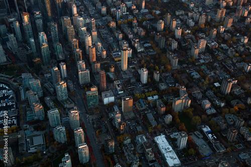 Fotografie, Obraz  Aerial Cityscape of Downtown Vancouver, British Columbia, Canada