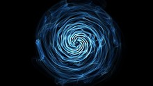 Blue Abstract Background. Flame Spiral Series.