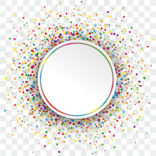 White Paper Colorful Circle Co...
