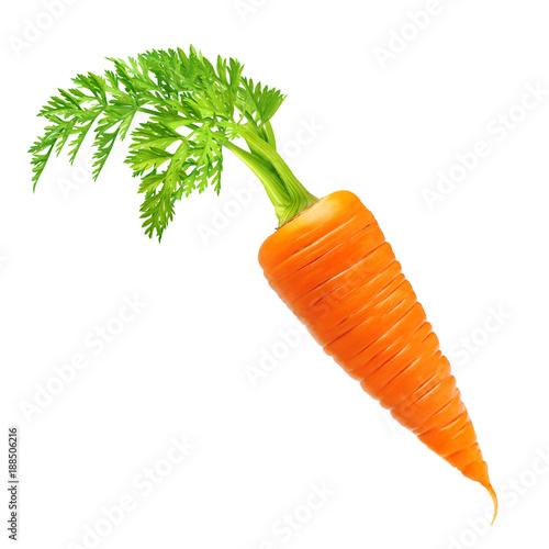 Fotografia  Carrot isolated on white
