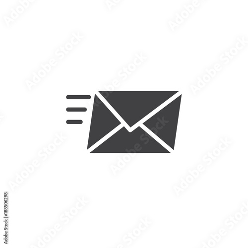 Fotografía Sending a message icon vector, filled flat sign, solid pictogram isolated on white