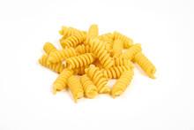Uncooked Fusilli Pasta Noodles...