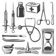 Vintage Medical Icons Collection