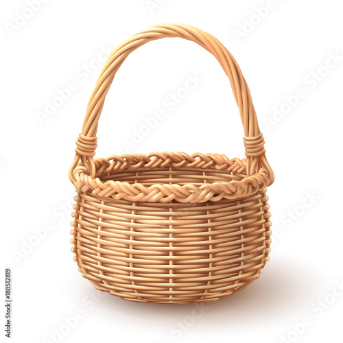 Rounded Basket separate in layer, Easy to use and in put artworks Slika na platnu