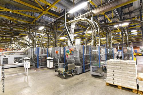 Fotografía  Interieur Fabrikanlage - Großdruckerei für Zeitungen - Weiterverarbeitung & Vers