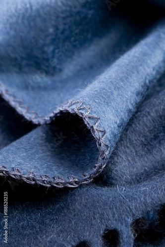 Fotografiet  Fotografia dettaglio tessuto cachemire.