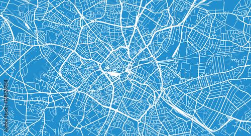 Photo Urban vector city map of Birmingham, England