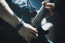 Close Up Of Lead Guitarist Per...