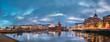 Helsinki, Finland. Panoramic View Of Pier, Embankment On Kanavaranta
