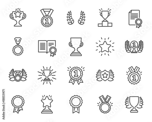 Fotomural Awards line icons
