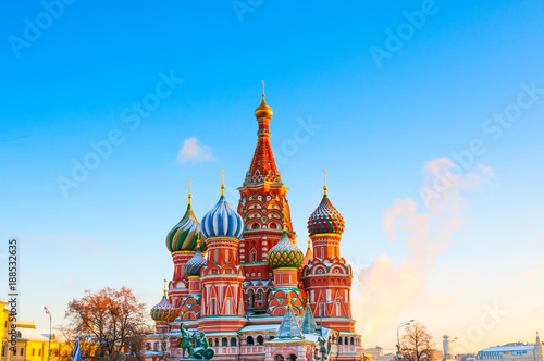 Wall Murals Moscow Saint Basil's Cathedral at Red Square in Moscow, Russia