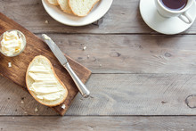 Bread, Butter, Coffee For Breakfast