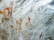 Rock Art In Battle Cave, Drake...