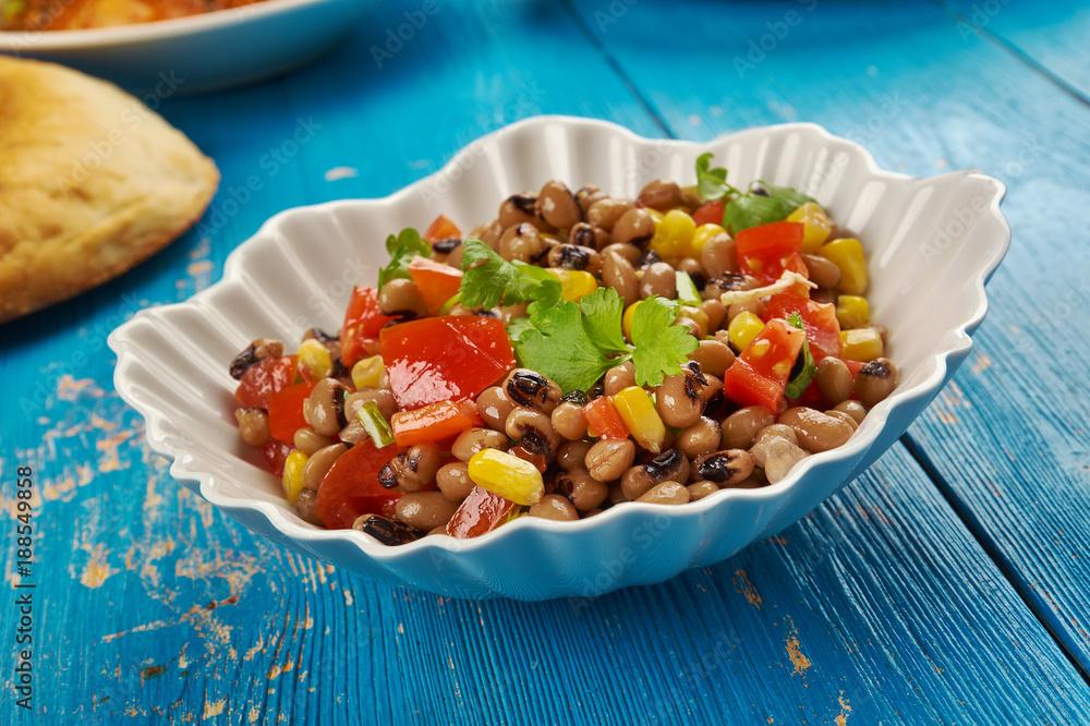 Fényképezés Southern Black-eyed Pea Salad